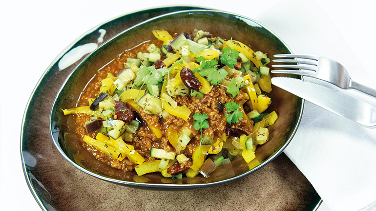 Chili met ratatouille