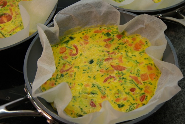 Quiche met omelet bacon